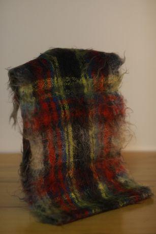 Красивый мохеровый шарф СССР советский индийский винтаж шерсть козы