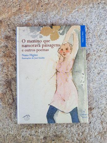 """Livro """" O menino que namorava paisagens e outros poemas"""" Nuno Higino"""
