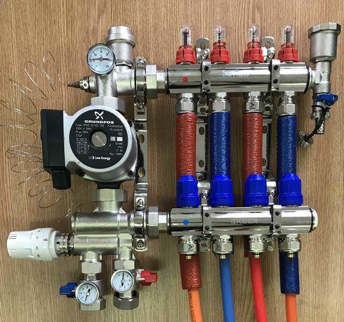 Отопления Водяные тёплые полы Водопровод