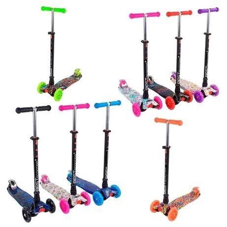 Детский трёхколёсный самокат MAXI Best Scooter 8 цветов