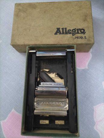 Máquina amolador Gillette antiga coleção ALLEGRO MOD.L a funcionar