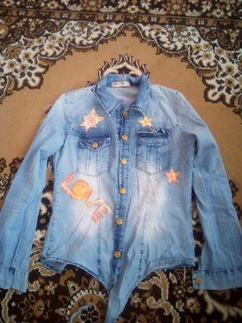 Динсовая рубашка, блуза