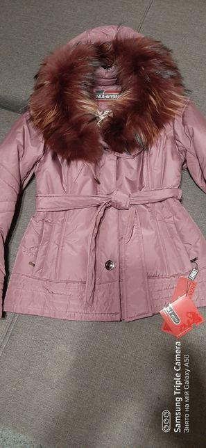 Зимова тепла куртка 46 розмір