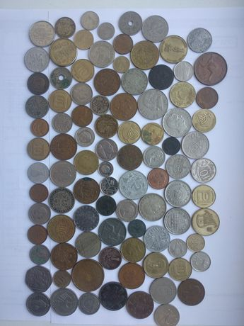Монеты разных стран мира . 93 шт.