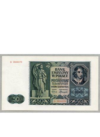 Banknot 50zł 1941r.