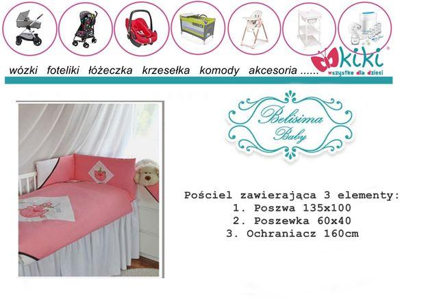 Pościel Belisima 3 elementy 135x100 cyrkowy kot różowa