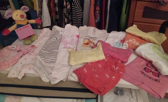 Roupa e interiores de menina 3-6 meses - peças a 2€ e 3€