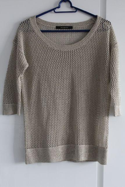 Sweter Reserved złota nitka S