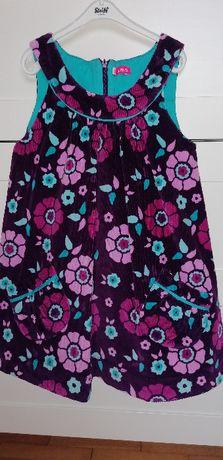 Sukienka ze sztruksu, 5-10-15, r. 104, stan idealny