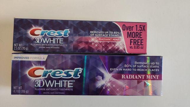 Отбеливающая зубная паста Crest 3D White Radiant Mint 70г 116г