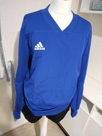 Bluza adidas m blue logo oryginal nowa