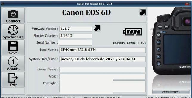 Canon 6D mais acessórios 11600 disparos !!!