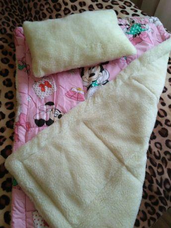 Одеяло+подушка на овчине