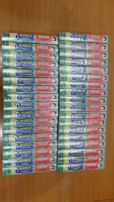 """Cassetes VHS """" Heidi & Marco """"- Coleção completa Penafiel - imagem 1"""
