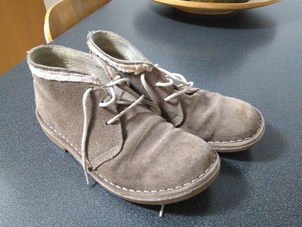 Sapatos camurça castanho claro rapariga tam 35