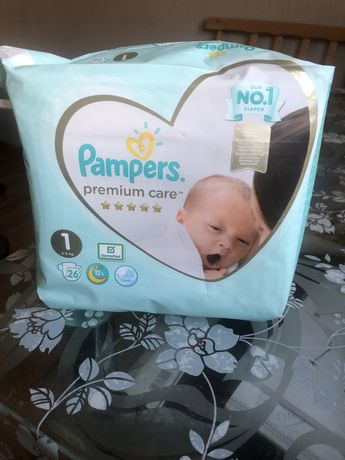 Памперсы Pampers premium care #1 (2-5кг) 26шт