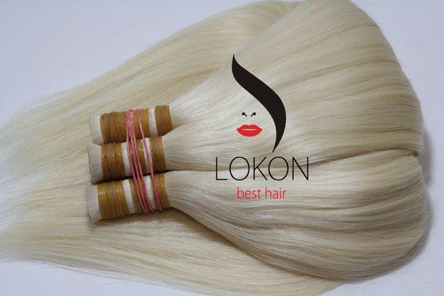 ОТЛИЧНАЯ ЦЕНА! СУПЕР БЛОНД! Продажа натуральных волос для наращивания