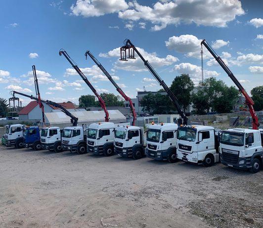 Transport HDS, Dłużyca, Naczepa, Dźwig