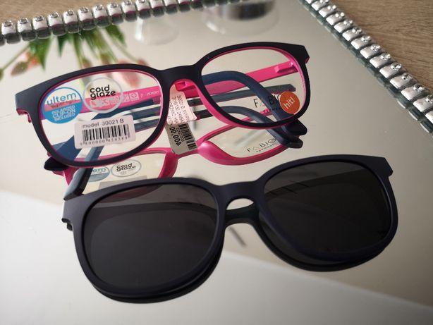 Oprawka do okularów z nakładką przeciwsłoneczną Clip-on/Cold glaze