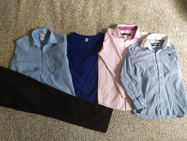 Пакет вещей в школу на мальчика рубашки брюки джемпер 6-7 лет