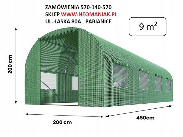 Tunel foliowy 2x4,5 m (9m2) Foliak na warzywa STELAŻ + FOLIA 140g/m2