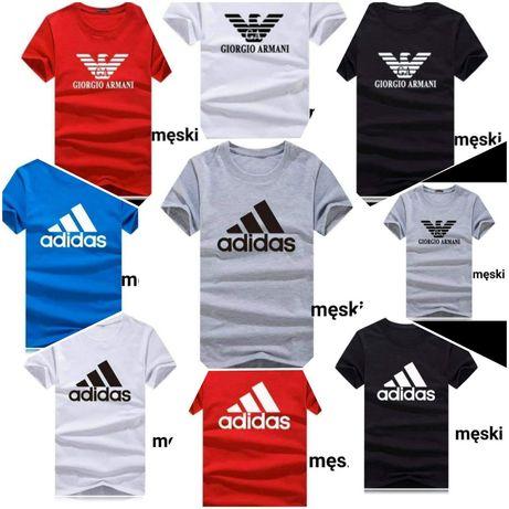 Koszulki damskie i męskie z logo Adidas i Armani  S-XXl!!!