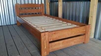 деревянная эко Кровать 90х200см односпальная.