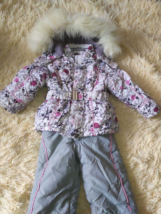 Комбинезон на девочку зимний морозоустойчив в хорошем состоянии Красноград - изображение 1