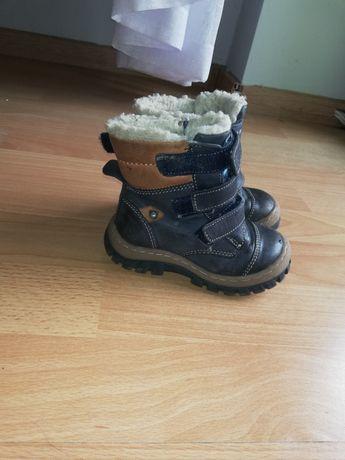Skórzane buty zimowe Lasocki Kids
