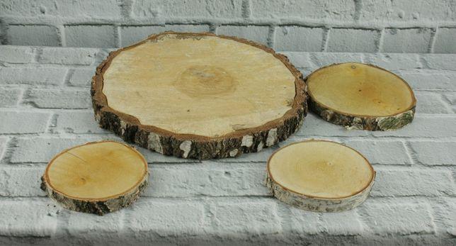 Plastry drewna wesele rustykalne suche czyszczone