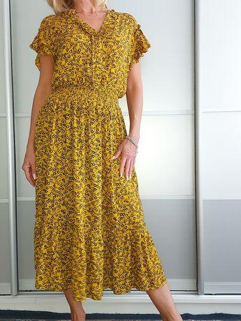 Платье горничной цвета с цветочным принтом Next