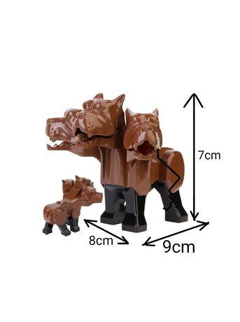 Fluffy Trójgłowy pies Harry Potter w pełni kompatybilny z Lego
