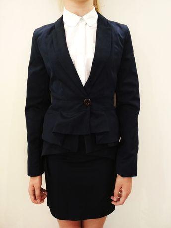 Школьная форма, пиджак, юбка с баской, рост 150