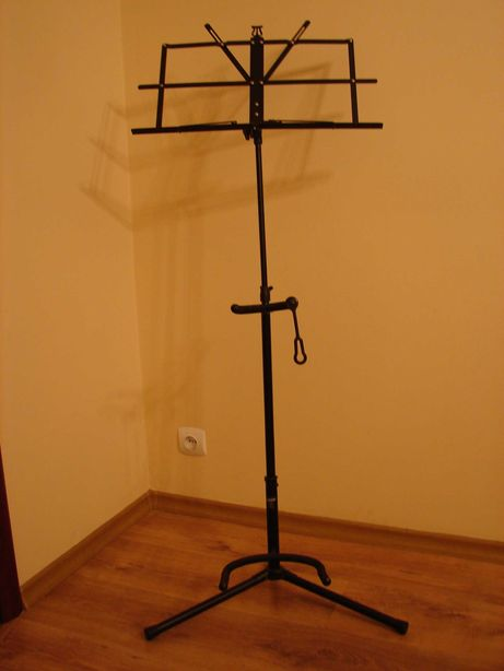 Statyw stojak pulpit na nuty z uchwytem na gitarę klasyczną składany