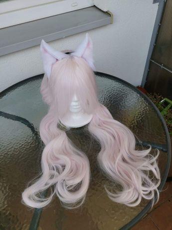 Peruka wig anime nekopara vanilla cosplay