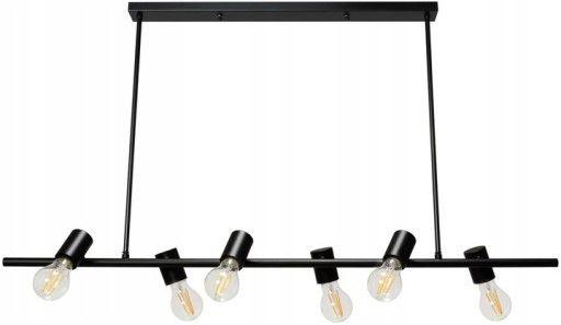 Lampa sufitowa loft czarna APP480 6 punktów edison