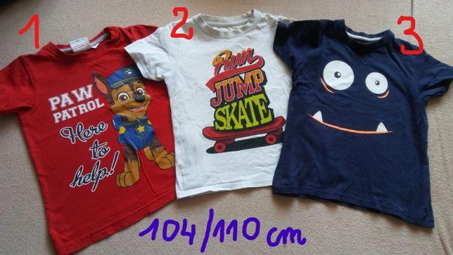 t-shirty kr.rękaw,koszulki,chłopięce,rozm.104