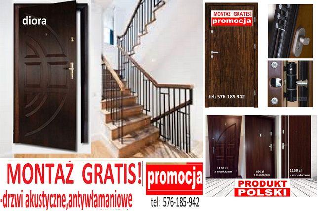 Drzwi do mieszkania WEJŚCIOWE, zewnętrzne z MONTAŻEM, antywłamaniowe