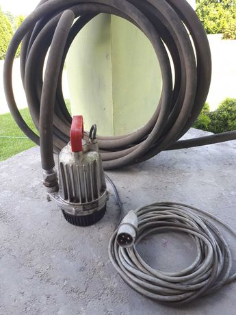 Pompa zatapialna kompletna z wężem używana - sprawna