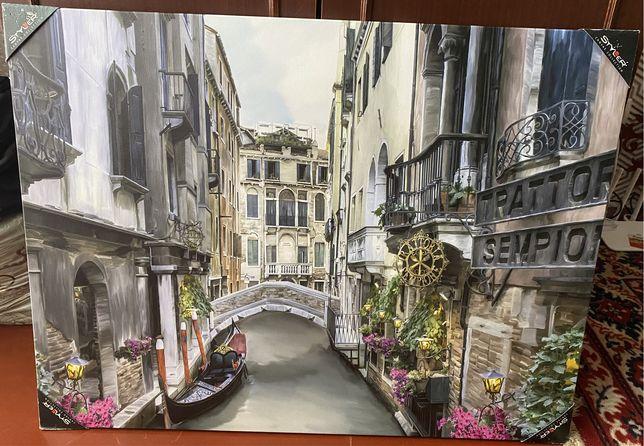 Картина улочки Венеции 60на80 см