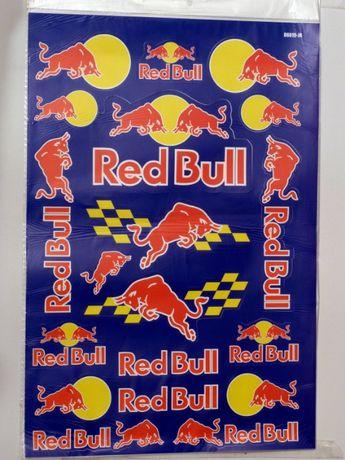 Folha de Autocolantes Red Bull e outros