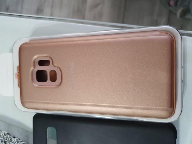 Etui Cover Samsung Galaxy S9 Gold Złoty Różowy