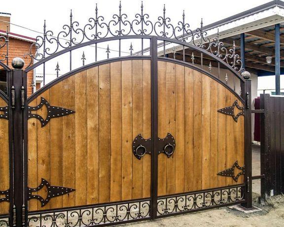 Изготовление деревянных домов, заборов, ворот,балконов, и др. Установ