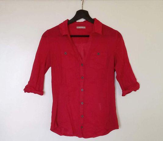 Czerwona taliowana koszula damska Orsay rozm. S