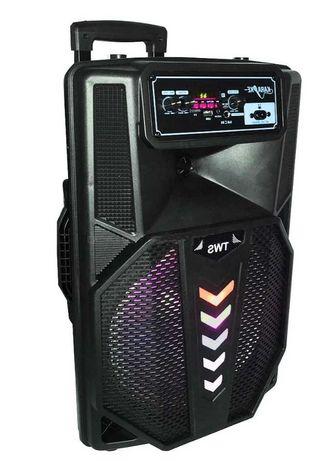 Колонка бумбокс акустическая Bluetooth, микрофон, цветомузыка, пульт