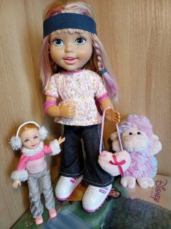 ЛОТ куклы Маттел Mattel 1998 блузочка Götz + мягкая игрушка овечка