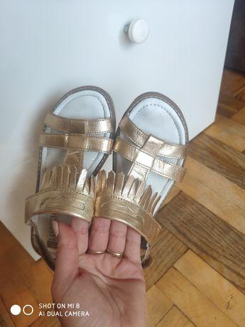 Sandały Lasocki roz 30 złote skóra