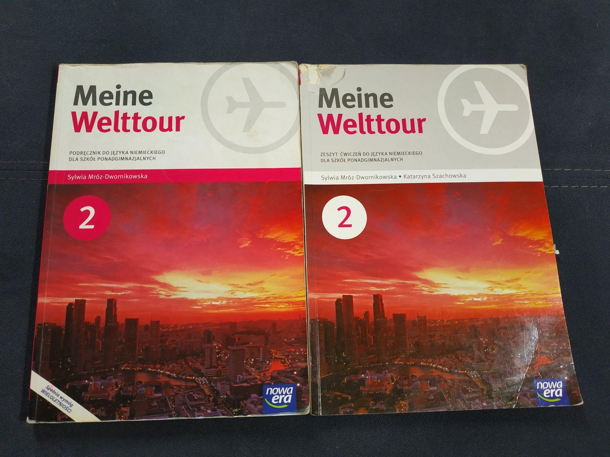 Meine Welttour 2 podręcznik i ćwiczenia do języka niemieckiego