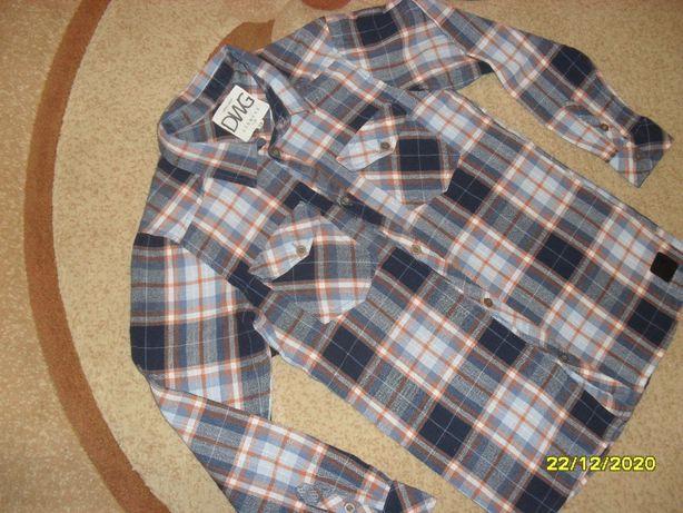 Красивенная рубашка на мальчика р.146-152 одета пару раз в идеале
