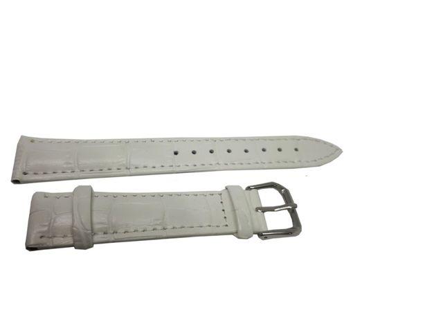 Pasek do zegarka Jinshoulian 20 mm biały.